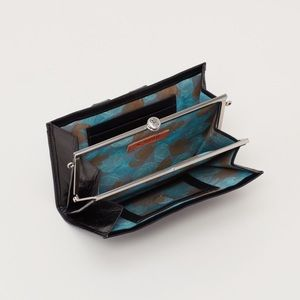 Hobo Bryan convertible clutch Wallet black Leather